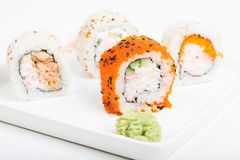 Rolls with wasabi Royalty Free Stock Photography