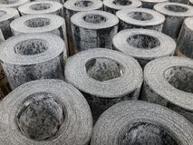 Rolls of waterproofing material at the market Stock Photography