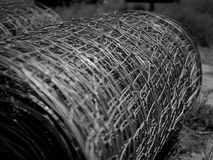 Rolls of wire fencing. On the ground ready to make fields or gardens stock proof and to exclude wildlife such as foxes and rabbits Stock Images