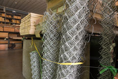 Rolls of wire mesh fence Stock Photography