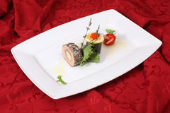 Rolls With Bacon And Vegetables Royalty Free Stock Photos