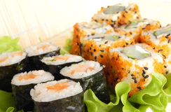 Rolls With Cucumber. Stock Images