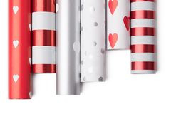 Rolls of wrapping paper Stock Photo