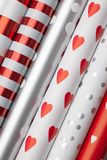 Rolls of wrapping paper royalty free stock photos