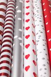 Rolls of wrapping paper Royalty Free Stock Photography