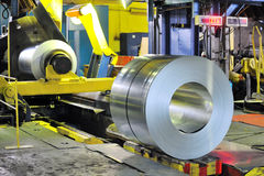 Rolls of zinc steel sheet Stock Photos