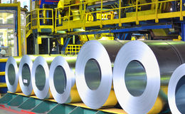 Rolls of zinc steel sheet Stock Photography