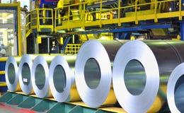 Rolls of zinc steel sheet Stock Photography