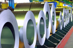 Rolls of zinc steel sheet Royalty Free Stock Photography