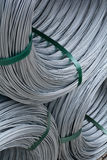 Rolls of zinc wire. In a pille stock photo