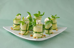 Rolls zucchini Royalty Free Stock Photos
