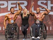 Rollstuhl-Bodybuilding-Preis-Zeremonie Stockfoto