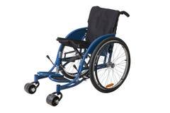 Rollstuhl getrennt auf weißem Hintergrund Lizenzfreie Stockbilder