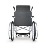 Rollstuhl, hintere Ansicht, über einen weißen Hintergrund 3d übertragen Lizenzfreies Stockbild