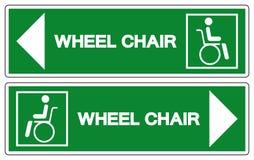Rollstuhl-Krankenhaus-Symbol, Vektor-Illustration, Isolat auf wei?er Hintergrund-Ikone EPS10 lizenzfreie abbildung