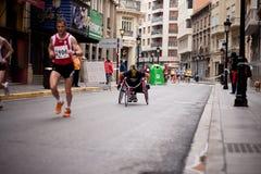 Rollstuhl-Rennläufer Stockfotos