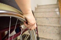 Rollstuhl und Treppe Stockbilder