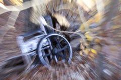 Rollstuhl-Unfall Lizenzfreie Stockfotos