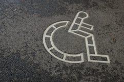 Rollstuhlsymbol Stockbild