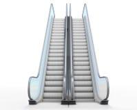 Rolltreppe auf Weiß Lizenzfreies Stockfoto