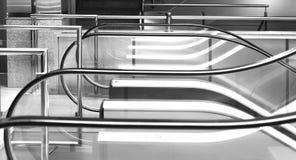 Rolltreppe im Einkaufszentrum Stockfotos
