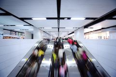 Rolltreppebewegung Stockfoto