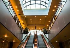 Rolltreppen in der Towson-Stadtmitte, Maryland Stockfotografie
