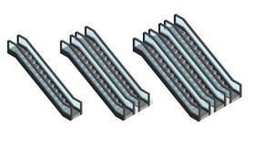 Rolltreppen-gesetzte isometrische Ansicht Vektor lizenzfreie abbildung