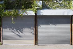 Rollup Doors 2 royalty free stock photo