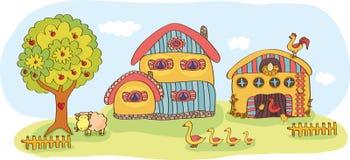 rolna domowa opowieść dwa Zdjęcie Royalty Free