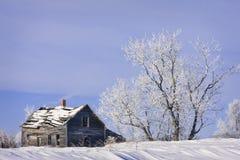 rolna domowa stara zima Obraz Stock