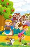 Rolna ilustracja dla dzieciaków - wiele różni elementy Fotografia Royalty Free