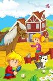 Rolna ilustracja dla dzieciaków - wiele różni elementy Fotografia Stock