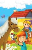 Rolna ilustracja dla dzieciaków - wiele różni elementy Obrazy Stock