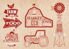 Rolna rocznik czerwień ilustracja wektor