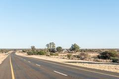Rolna scena na N8-road między Kimberley i Schmidtsdrift Obraz Stock