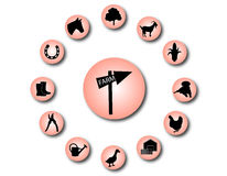 Rolne ikony 1 Obrazy Stock