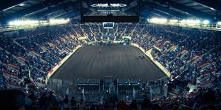 Rolnego przedstawienia terenu Salowy rodeo Zdjęcia Royalty Free