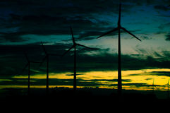 rolnej eolic turbiny Obraz Royalty Free