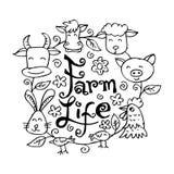 Rolni żyć zwierzęta ilustracja wektor