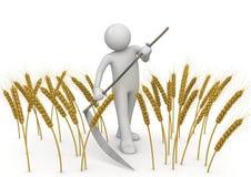 rolnictwa kosiarza pracownicy ilustracji