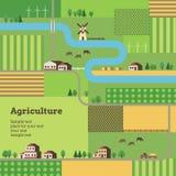 Rolnictwa tło Obrazy Royalty Free