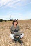 rolnictwa turbina wiatr Zdjęcia Royalty Free