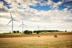 rolnictwa turbina wiatr alsace France obraz stock