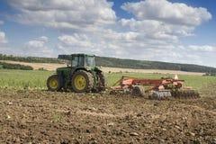 rolnictwo ciągnika Fotografia Stock