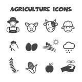 Rolnictwo ikony Zdjęcie Royalty Free
