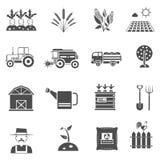 Rolnictwo ikony ustawiać Zdjęcie Stock