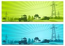 rolnictwo krajobraz ilustracji