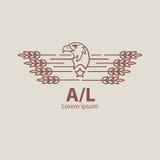 Rolnictwo orła logo Obrazy Stock