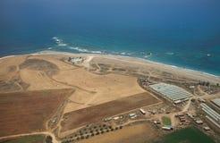 Rolnictwo na po?udniowym wybrze?u blisko Paphos zdjęcie stock